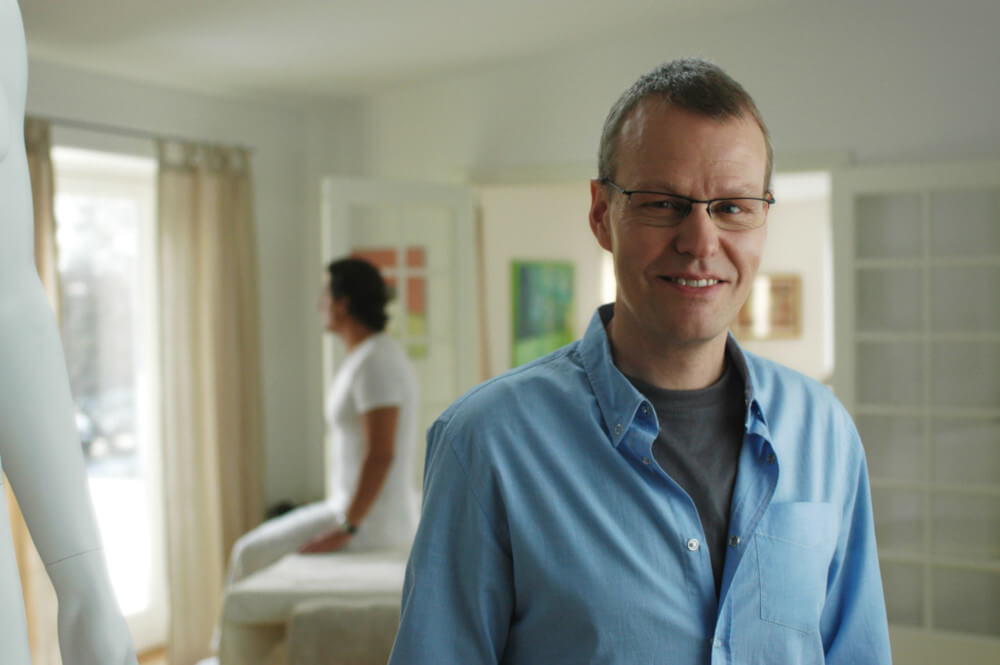 Zoneterapeut Søren Malling har klinik i Hellerup